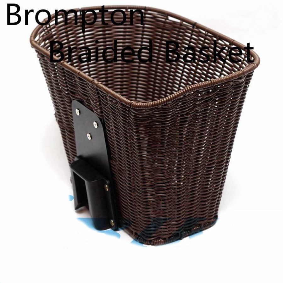 Aceoffix for Brompton Bike Bag Braided Basket Weaving Basket 2019