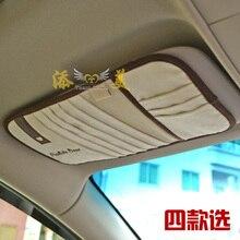 Business minimalist styling car sunvisor CD Storage Car Accessory sun visor interiors decoration holder bag,Free shipping