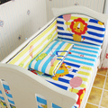 Promotion! 5PCS Good Quality Baby Bed Bumper for Girl Cheap Price Baby Boy Crib Bedding Set,include:(bumpers+sheet)