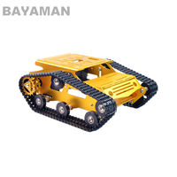 1set Tracked Tank Chassis YP100 with Aluminum Alloy Frame 12V High Power Motor Plastic Tracks for DIY Project Design RC parts
