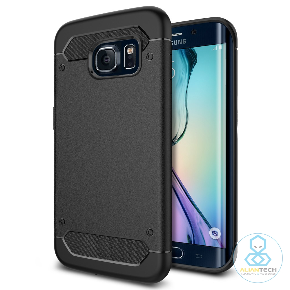 bilder für Aliantech Unverwüstliche Rüstungs Fall für Samsung Galaxy S6 Kanten Schlank & Soft TPU Militärischen Grad Drop Getestet Telefon Fall
