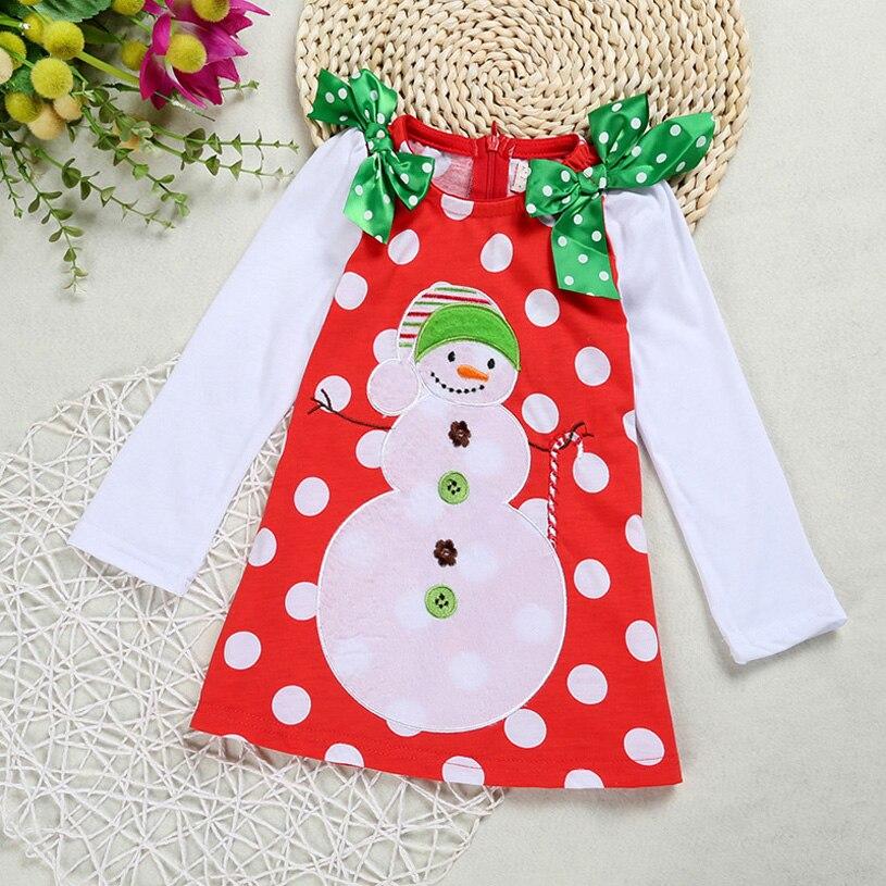 Santa Baby Girls Dress Dot Red Bow Infant Christmas Dress For Party Princess Floral Vestido Infantil Baby Girl Clohing