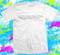 Richard Feynman Quote T Shirt Great quality 100% cotton and dispatched fast boyfriend gift Cotton Casual