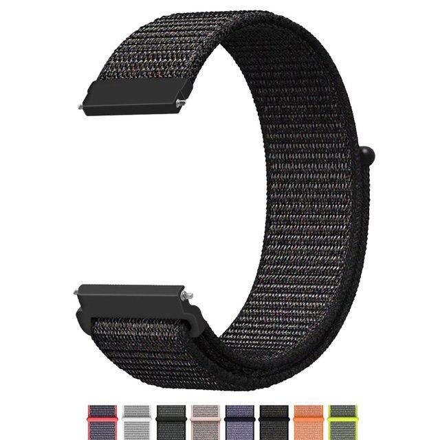 e5489010ab0 22mm 20mm Universal Nylon Watch Strap Para Samsung Engrenagem S3 S2 Esporte  Clássico Faixas de Relógio