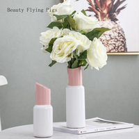 Creative Ceramic vase lovely Lipstick modern Nordic style Flower arrangement accessories living room Home decoration flower vase