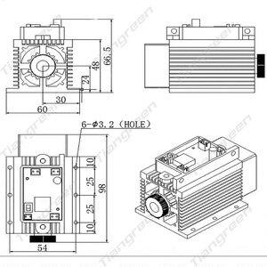 Image 5 - Module bleu de Machine à graver et à couper le métal, contreplaqué, gravure et découpe Laser, haute puissance 15W, CNC pièces pour imprimante TTL