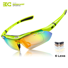 BASECAMP Cycling Glasses Polarized Running Hiking Sports Sunglasses Mountain Road Bicycle Bike Fishing Eyewear 6 Lens H5303