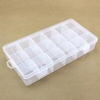 18 lưới nhựa trong suốt lưu trữ box trường hợp DIY jewelry hạt đồ chơi cao su ban nhạc kẹp phân loại box lưu trữ organizer