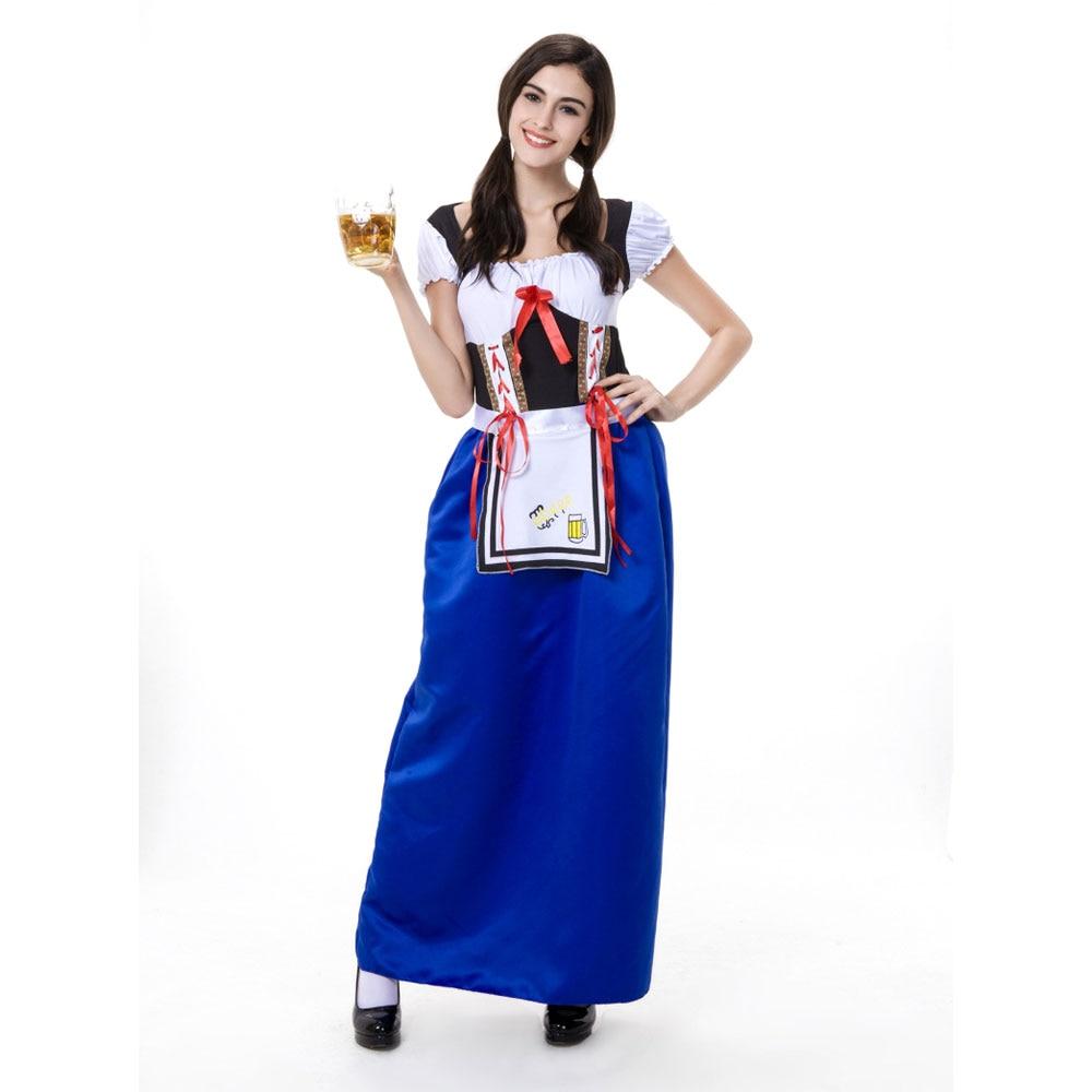 Hot Sexy Blue Beer Girl Uniforms Carnaval October