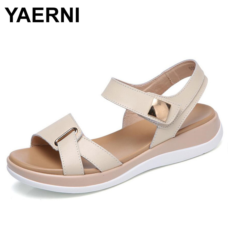 YAERNI New Summer Womens Sandals Leather Sandals Female Size Leather Sandals Open toe Fish Mouth Casual Shoes Slippers FootwearYAERNI New Summer Womens Sandals Leather Sandals Female Size Leather Sandals Open toe Fish Mouth Casual Shoes Slippers Footwear
