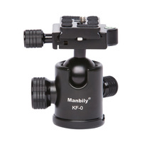 Manbily KF 0 Professional Tripod heads Universal Ball Head with Fast Mounting Plate Stand Holder for Canon Nikon DSLR DV camera