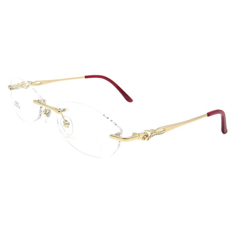 Gmei Optical S2614 Rimless Eyeglasses Frame for Women ...