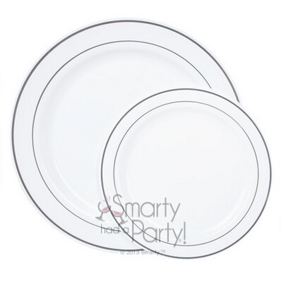plastic heavy dinner plate white silver rim cold round plate wedding party festival primary plate have with cheap plastic plates for weddings  sc 1 st  apkandroidgallery.com & Cheap Plastic Plates For Weddings. Plastic Plates For Wedding Lovely ...