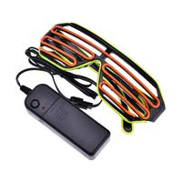 JLAPRIRA LED Luminous Glasses Halloween Glowing Neon Christmas Party Bril Flashing Light Glow Sunglasses Glass Festival Supplies
