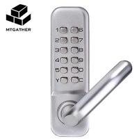 MTGATHER Fechadura Mecânica Keyless Digital Máquinas Código Fechadura Da Porta de Entrada de Senha Do Teclado 141x43x26mm Zinco liga