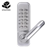 MTGATHER Mechanical Door Locks Keyless Digital Machinery Code Keypad Password Entry Door Lock 141x43x26mm Zinc Alloy