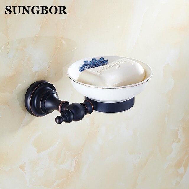 Euro style Ottone Antico nero Ceramica Accessori Bagno Sapone/Soap ...