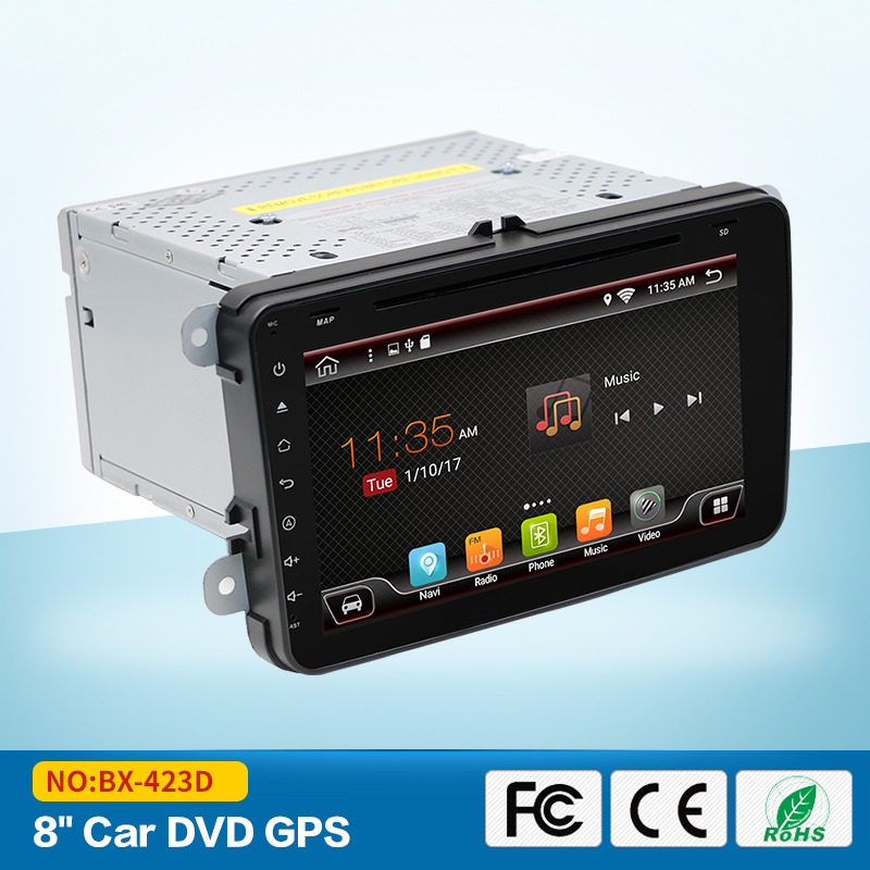 2Din Android 5 1 Car Stereo Radio 8 Inch HD 1024 600 Screen Quad Core Car