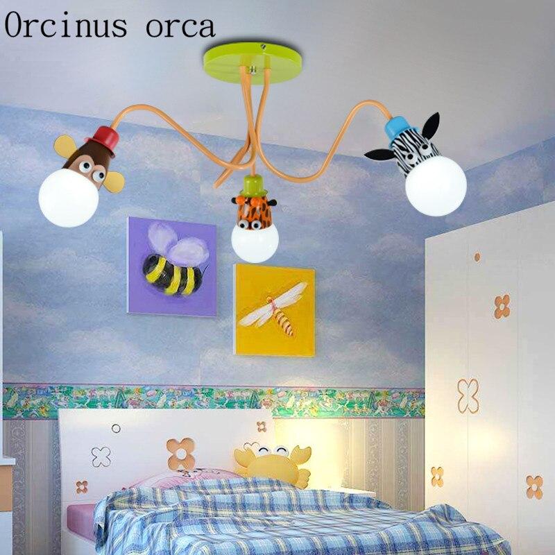 Kreative cartoon kinderzimmer schlafzimmer deckenleuchte junge ...