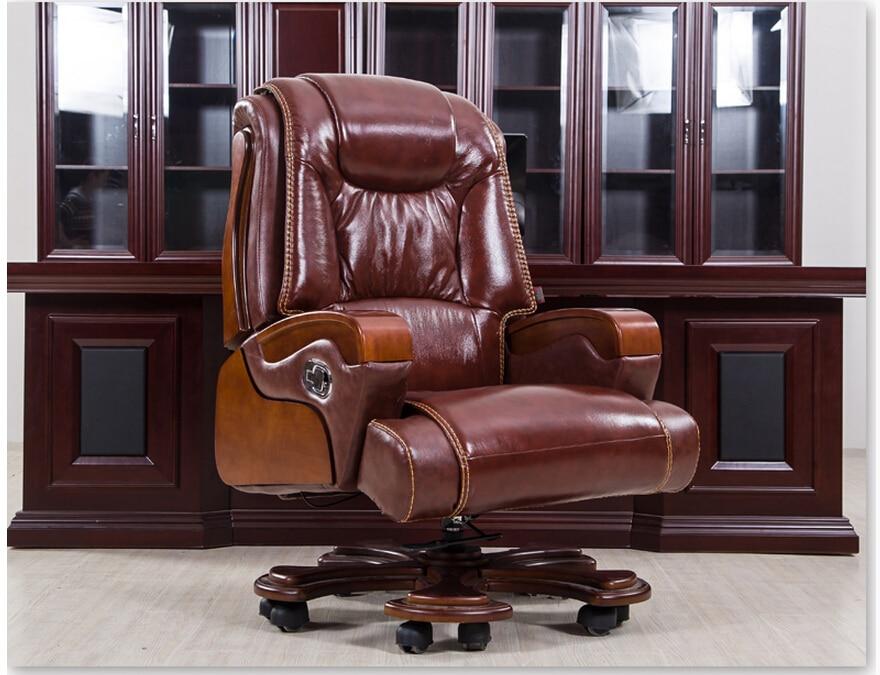 Купить с кэшбэком Large chairs. Leather boss chair. Massage can lie lifting household computer chair swivel chair