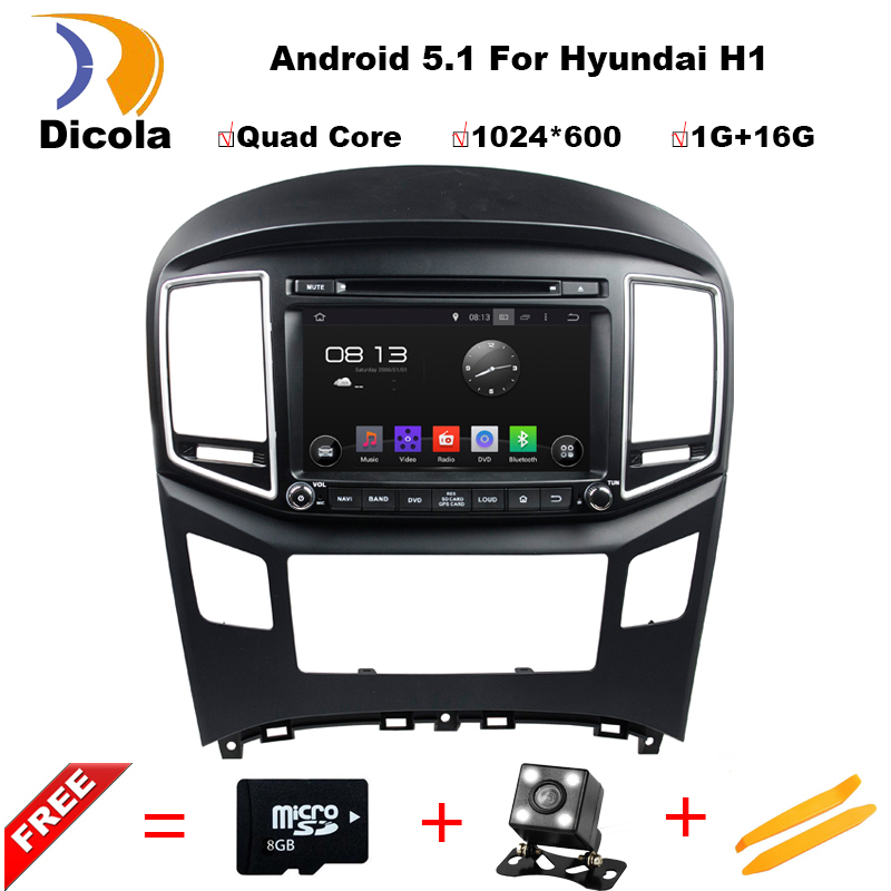 Android 5 1 HD 1024 600 Quad core RK3188 car video stereo for Hyundai H1 2016