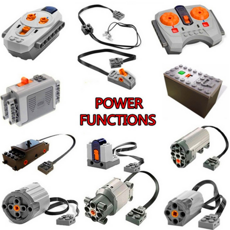 Moc Technic Function Servo Motor IR RX TX Battery Set Box Building Blocks Bricks Power Car Model Kids Toys Compatible Legoings