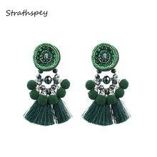 Strathspey зеленые серьги с кисточками для женщин винтажные
