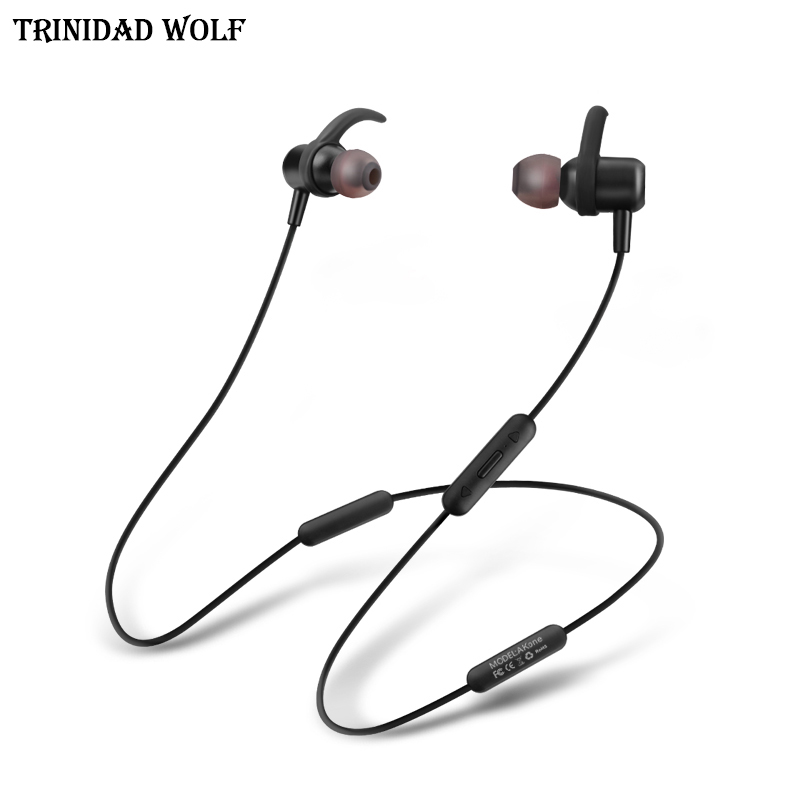 TRINIDAD WOLF bluetooth headphones waterproof wireless headphone sports bass bluetooth earphone with mic for phone iPhone xiaomi