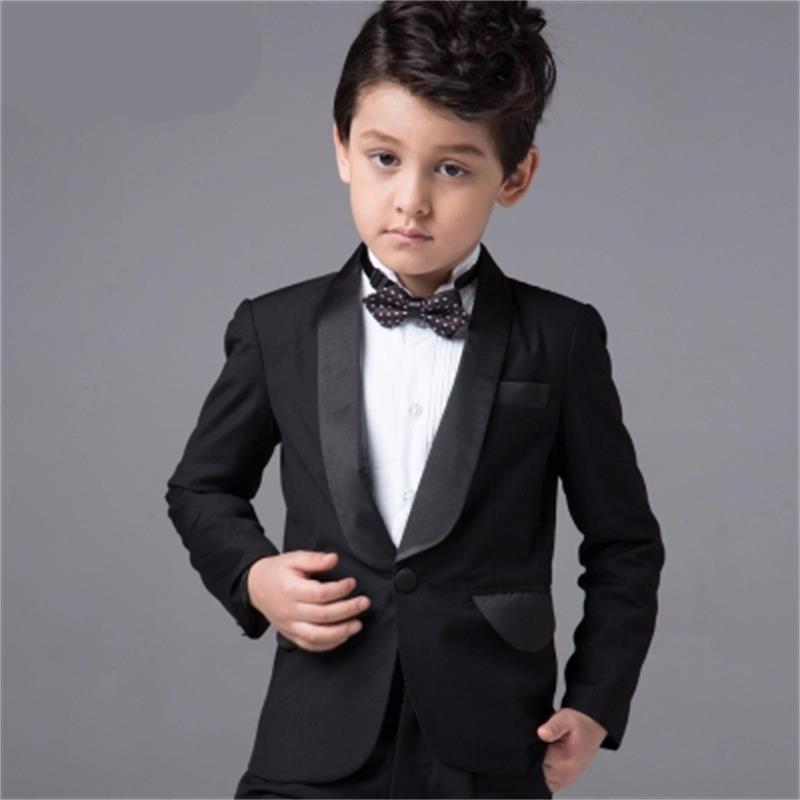 (Jackets+Vest+Pants+Tie+Cravat) Boy Suits Flower girl Slim Fit Tuxedo Brand Fashion Bridegroon Dress Wedding Black Suit Blazer цены онлайн