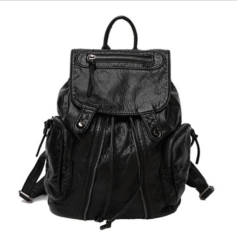 ФОТО 2017 New Designer Women Leather Backpacks Girls Shoulder School Bags Ladies Casual Travel Waterproof Bolsa Feminina Sac A Dos