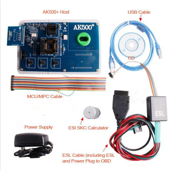 AK500+ Key Programmer With EIS SKC Calculator Package