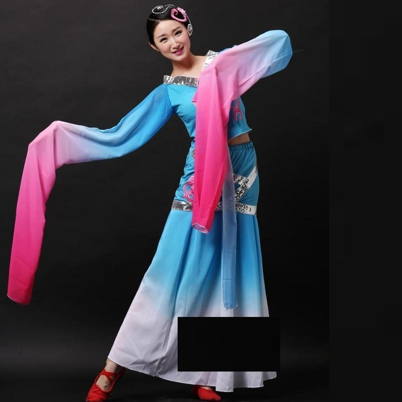 traditional chinese costumes children clothes for women sleeve fan ancient hanfu national chinese folk dance costume for woman