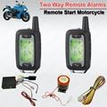 À prova d' água 2 Vias de Alarme Da Motocicleta Moto Segurança Modos de Choque Sistema de Alarme Em Dois Sentidos Remoto Recurso anti-seqüestro de Alarme Mudo