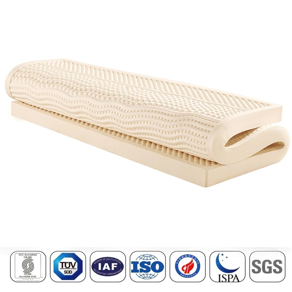 Natural Latex Mattress With Outer Inner Case Tatami Mat Cervical Vertebra Neck Protector 7 Zone Body Pressure Release Mattress