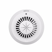 Sensitivity Voice Prompts Wireless Smoke Fire Detector Sensor Linkage With Kerui Home Alarm System Low Battery