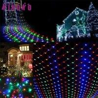 Kingko cordón de Iluminación al aire libre 3 M x 70 CM 240LED Cortina de Cadena de Luces de Hadas de la Red del Acoplamiento Del Banquete de Boda de Navidad de luz u7112 NAVE de LA GOTA