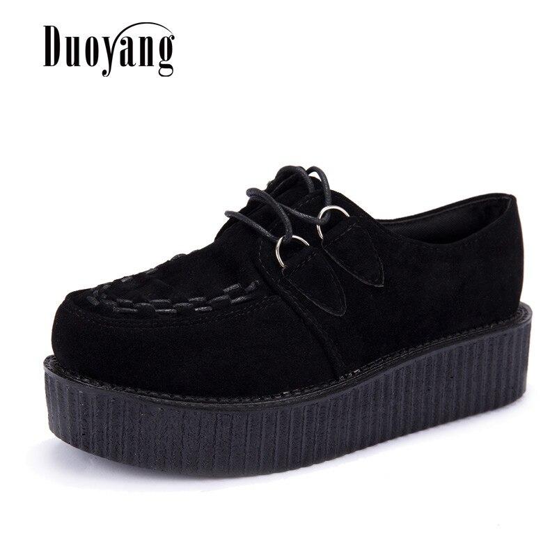 Creepers zapatos de mujer plus tamaño 35-41 zapatos de mujer más tamaño zapatos  de 19a9fa52ee55