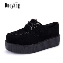 Creepers casual shoes woman plus size sneakers women shoes ladies platform shoes 2020 Lace up Women Flats Female shoes loafers