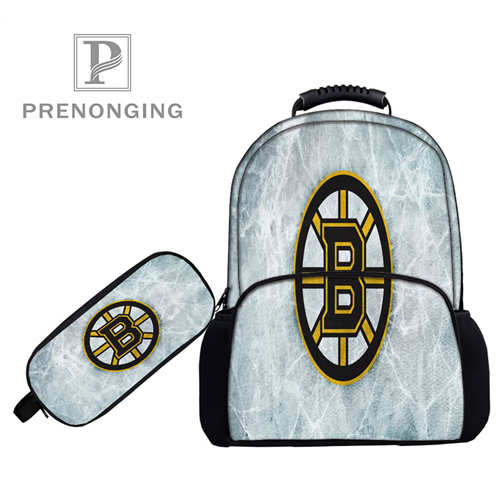 Custom 17inch Boston_bruins_  Backpacks Pen Bags 3D Printing School Women Men Travel Bags Boys Girls Book Computers Bag#1031--85
