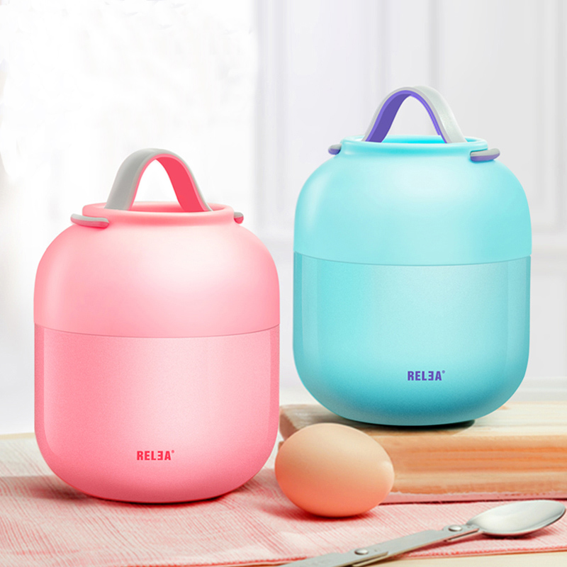 700ML Baby Food Container Braised soup Pot Vacuum Insulation Barrel Lunch Box Students leak-poof Stainless Steel Soup Stew Bowl 3d unicorn dessert coffee office pouch thermal insulated neoprene lunch bag women kids lunchbags cooler insulation lunch box
