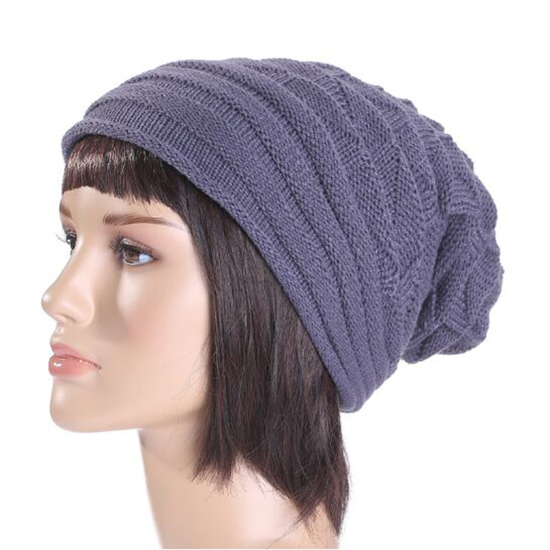 Hot Sale 2016 Fashion Solid Fold Beanies Hat for Women Winter Outdoor Warm Hats Touca Gorros Men Caps Plaid Knitting Hedging Cap 35colors silver gold soild india scarf cap warmer ear caps yoga hedging headwrap men and women beanies multicolor fold hat 1pc
