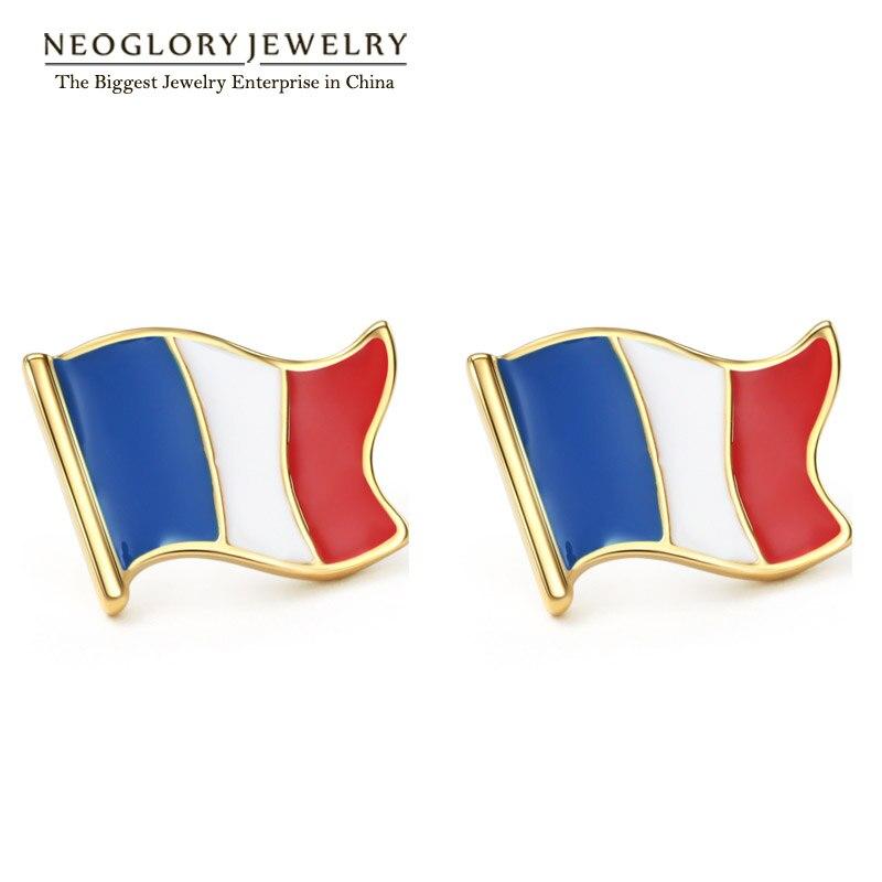 இneoglory Açık Sarı Altın Renk Fırınlanması Vernik Fransa Bayrağı