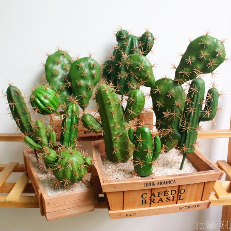Foreign Trade Excellent Product Artificial Succulent Plant Cactus Green Plant Desktop Creative DIY Fake Plant Table Holiday Home