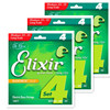 Elixir 14077 Bass Strings 4 Electric Bass Guitar String 045 105 Musical Instrument Parts Guitar Accessories