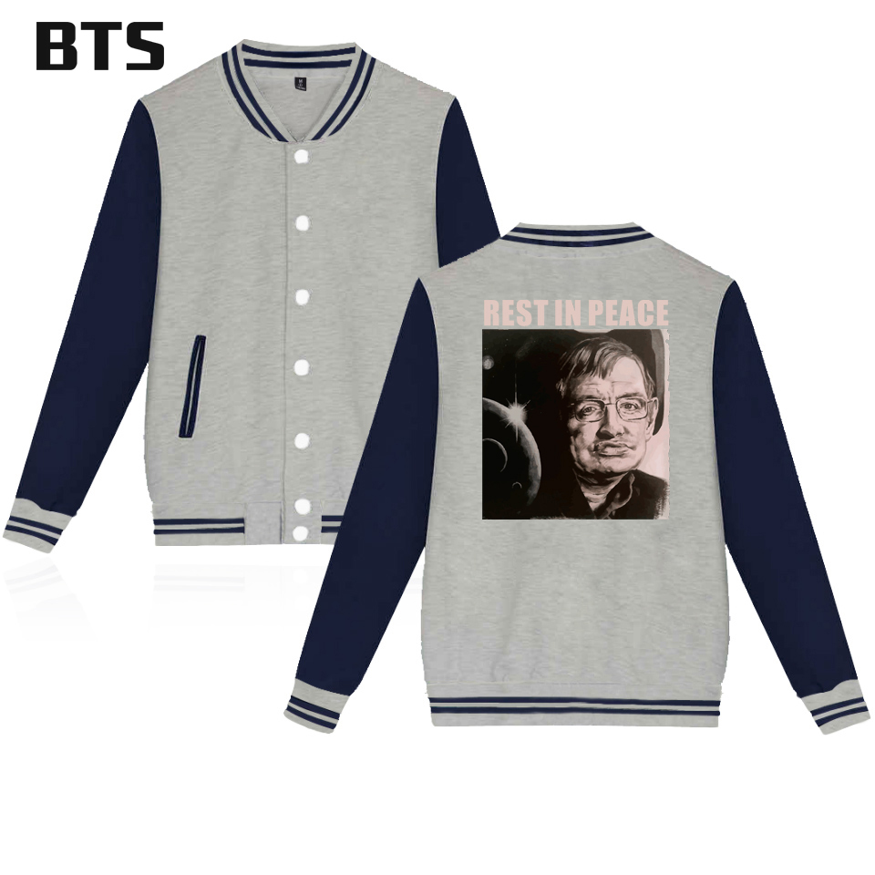 BTS R.I.P.Hawkin Rest in peace Jacket Women Commemorating great physicists Hawkin Harajuku Ladies Autumn Jacket Women Big 4XL