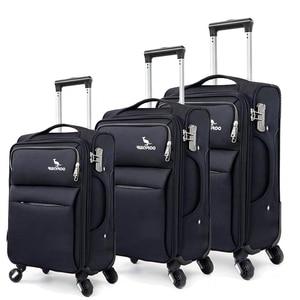 """Image 4 - נסיעות סיפור 20 """"24"""" 28 """"אינץ waterproof ספינר עגלת שרות מזוודת סט 3 חתיכות סט מזוודות לנסיעות"""
