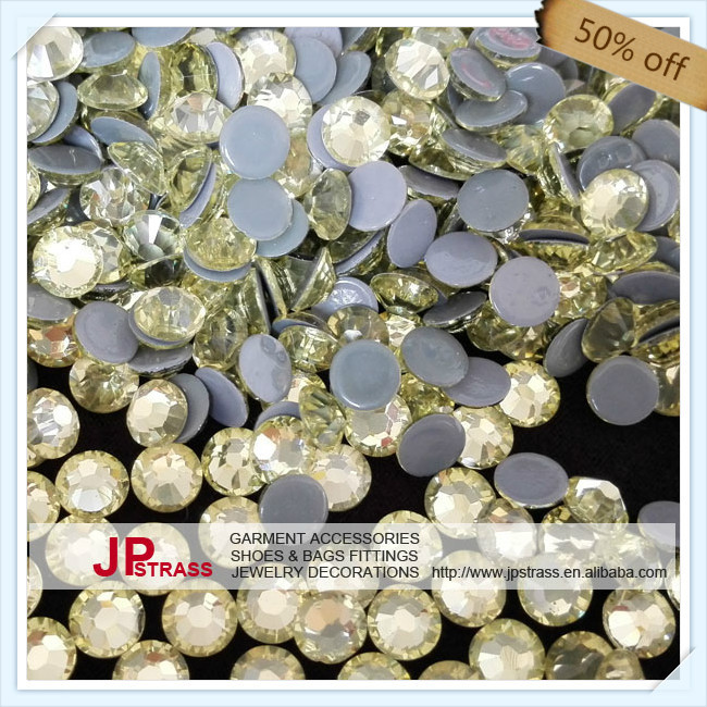 hot sale super shiny  size ss10 2.9mm JONQUIL color with 1440 pcs each pack ; diamond stone FOR hat,GARMENT,SHOES free shipping