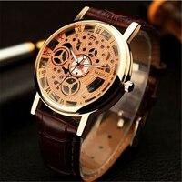 Famous brand skeleton watch rose golden women men wrist watch male clock ladies blazers watch relogio.jpg 200x200