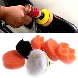 Image 1 - Car Styling 3 Inch Polissage Pad Car Auto roue de polissage Buffer+M14 Adaptateur forage 7X