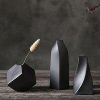 Vaso de cerâmica retro simples criativo desktop pequeno vaso sala estar decoração casa presente